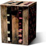 Wijnkist krukje karton